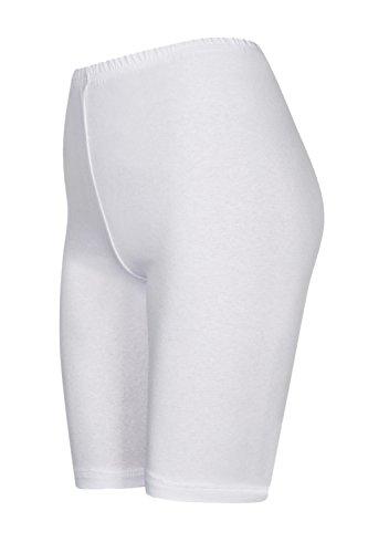 2 Stück Kinder Fitness Shorts, Weiß, 134