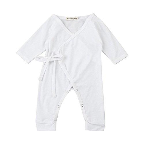 Baby Strampler, SOMESUN Neugeborene Säugling Baby Mädchen Jungen Flügel Schnürung Spielanzug Overall Outfits Kleidung (3Monat, (Minion Outfit Kinder)