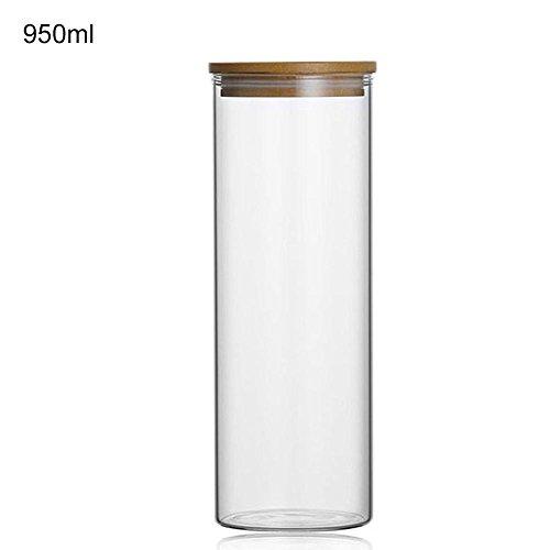 Todaytop Vorratsdose aus Glas Teedosen Kaffee Tee Behälter Luftdicht Vorratsgläser mit Deckel,Aufbewahrung von Tee Kräutern Gewürzen Nüsse Kakao Glasdose,950ml