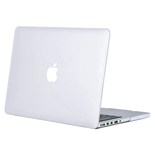 MOSISO Hülle Kompatibel MacBook Pro 15 Retina (NO CD-ROM) - Ultradünne Plastik Hartschale Hülle Kompatibel [Vorherige Generation] MacBook Pro 15 Zoll mit Retina Display A1398, Frost Klar - Pro 15 Retina Das Macbook Klar Case