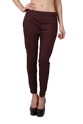 Shararat Fashionable Lycra Stretchable Slim Fit Straight Casual Cigarette Pants For Girls / Ladies / Women