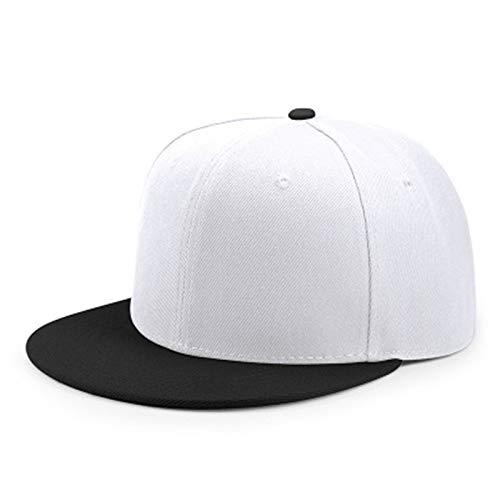SELYLeichte Brettfarbe, die justierbaren flachen Baseballmütze-Mann- und Frauenflachen Hut-Hip-Hop-Hip-Hop-Hut zusammenbringt
