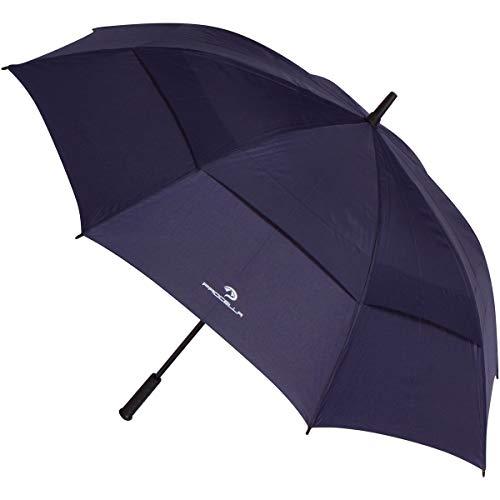 Procella Regenschirm Groß, XXL Sturmfest Golf Schirm für Damen und Herren, Windfest Stockschirm - von Fallschirmspringern getestet, Schützt Vor Regen, Wind & Sonne - Dunkelblau