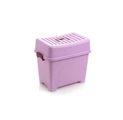 ChFei Wohnzimmer-Speicher-Schemel Multifunktionsspeicher-Schemel-Schuh-Bank, Multi-Size, Mehrfarben (Farbe : Purple, größe : 38 * 24.5 * 34.5cm) - Purple Multi Schuhe
