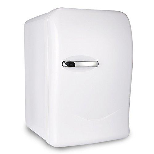 LIQICAI 15L Mini Kühlschrank 1 Tür Heizen und Kühlen Zwei Anwendungen 12V 230V (Farbe : Weiß) (110v Dc-heizungen)