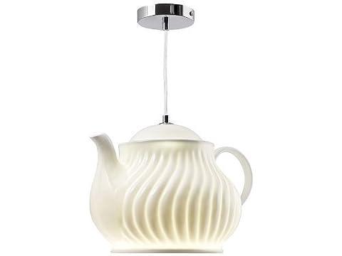 Die lustige Kaffeekannen Lampe für die Küche