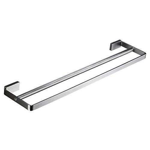 XUEYAN Edelstahl-Handtuchhalter Doppel-Bar Badezimmer WC hängende Stange Badezimmer Handtuchhalter (größe : 80cm)