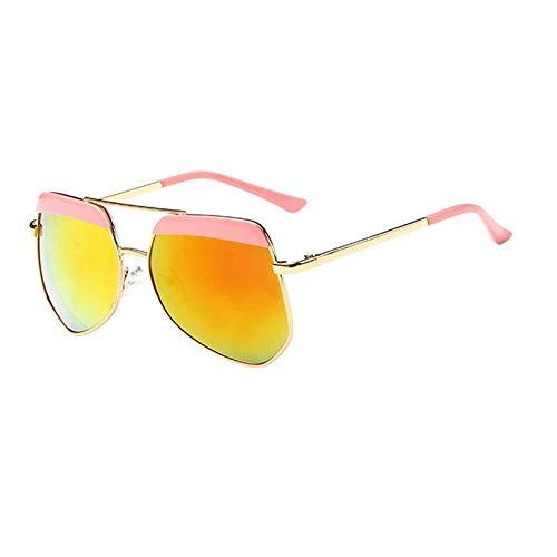 Sonnenbrille Neue Kinder Brillenmode Rundes Gesicht Multilateralen Big Frame Sonnenbrillen Für Mädchen Und Jungen Pink Orange