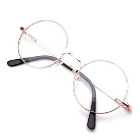 Bluelover Runde Metallrahmen Presbyopisch Lesebrille Brillen Ermüdung Entlasten Stärke 1,0 1,5 2,0 2,5-2,0 - Gold