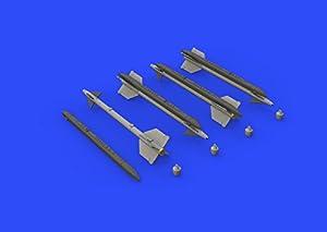 Eduard EDB648303 - Kit de misilería de latón 1:48 -Aim-9 G/H Sidewinder