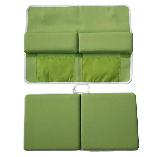 Healifty Rutschfeste Badematte mit Badewanne Hängen Taschen für Kinder 2 Stück (Grün)