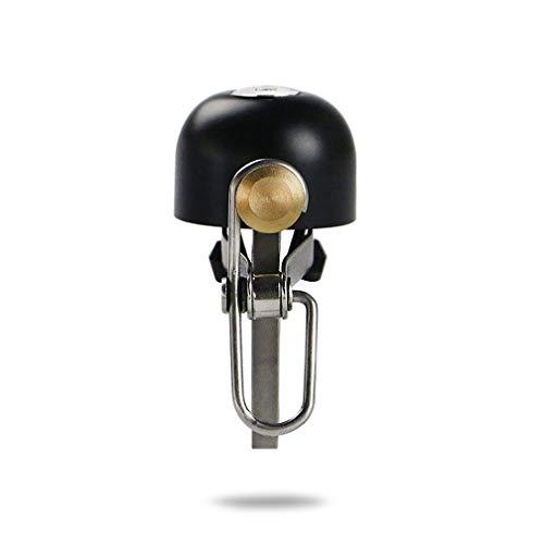 Deruxan Fahrradglocke Fahrradklingel Laut,Klein, Retro Handlingel aus Kupfer+ Rostfreier Stahl Material, Bicycle Bell Riding Bell für Mountainbik,Straßenfahrräder und BMX Laufräder (Schwarz) -