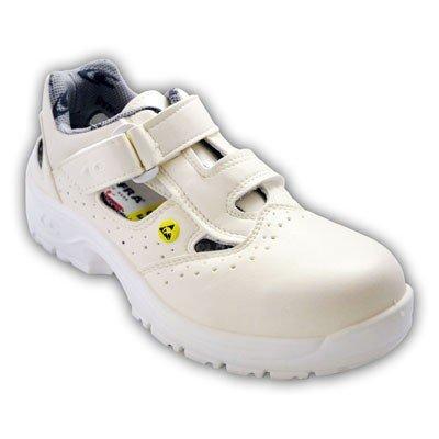 Cofra, 10190-000, Sandali di sicurezza S1 ESD SRC Speciali Servio, taglia 37, bianco