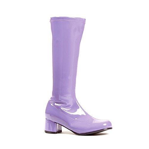 Kinder 's Pink Patent Go Go Stiefel, Violett, 175-DORA-XS-PURP (Schuhe Mädchen-patent)