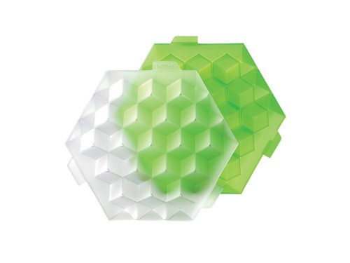 Lékué Ice Cube - Cubitera para cocktail, 19 cubos, color verde