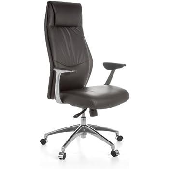 Design schreibtischstuhl  Amstyle Bürostuhl OXFORD 1 Echt-Leder Braun Design ...