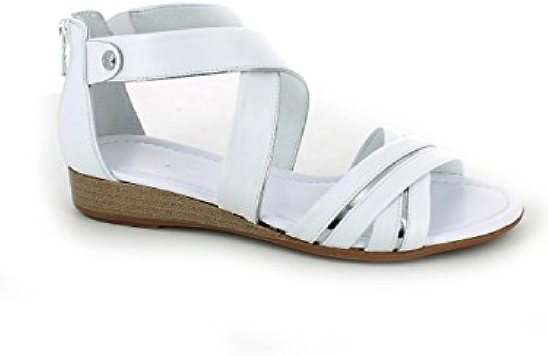 Nero Giardini -Sandalo Incrociato Bianco e argentoo   Design Design Design moderno  81a531