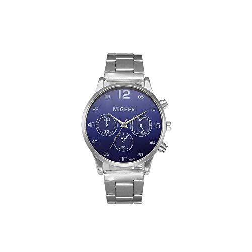 Patifia Unisex Chronograph, Analoge Quarz-Armbanduhr der Art- und Weisemann-Kristalledelstahl Luxusmann Datum Kalender Geschäft Uhr Geschäft Uhr