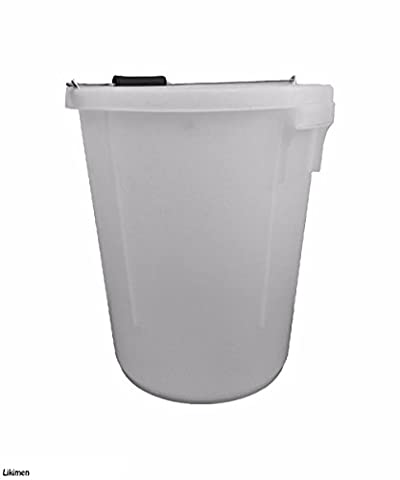 25 Litres / 25L White Plasterers / Plaster Bucket 5 Gallon With Measurements