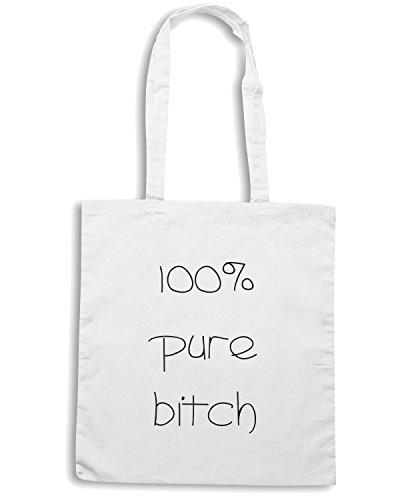 T-Shirtshock - Borsa Shopping TDM00005 100x100 pure bitch Bianco