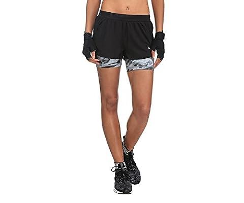 Puma Women's Blast 2-in-13W Shorts, Womens, Blast 2in1 3` Short W, puma black-inner tight aop