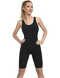 Gwinner Badenzug Sportbadeanzug Trainingsanzug mit verlängerten Beinen für Damen, ideal für Sport- und Leistungschwimmen, sehr bequem und elastisch, aus hochwertigem Material made in EU Racing