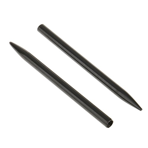 MagiDeal 2 Stück Edelstahl Paracord Nadel, Sticknadel für Paracord Bänder, Bastelnadel für Seile - Schwarz (Schwarze Nadeln)