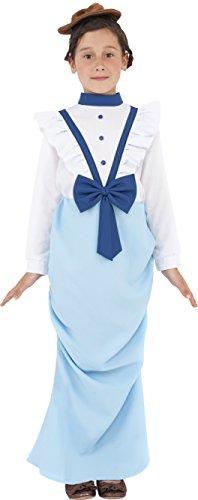 Herren Zeitalter Viktorianischen Kostüme Im (Smiffys Kinder Vornehmes Viktorianisches Mädchen Kostüm, Kleid und Hut, Größe: M,)