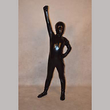 HAOBAO Zentai Anzüge Ninja Fest/Feiertage Halloween Kostüme Schwarz einfarbig Zentai Kostüme Kind, 10 * (Kinder Schädel Ninja Kostüm)