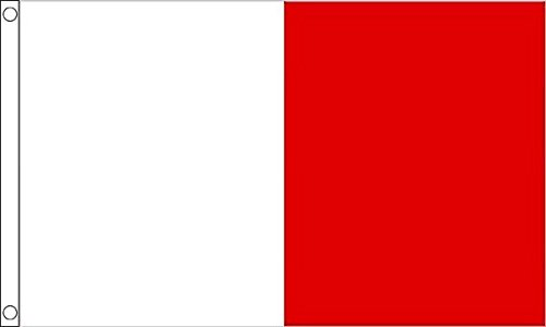 Flag Wholesaler County Flagge, White/Red Irish, Large (Football Red Flag)
