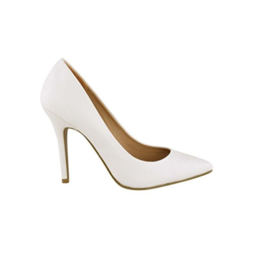 New Ladies Mid High Stiletto Heel Pointy Toe Low Platform Women Work Court Shoes