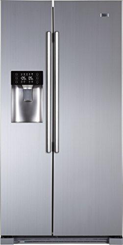 Haier HRF-628IF6 Side-by-Side/A+ / 179 cm Höhe / 420 kWh/Jahr / 375 L Kühlteil / 175 L Gefrierteil/Wasser, Eisspender und Ice Crusher/edelstahllook