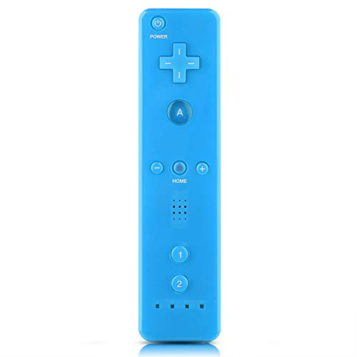 Asixx Remote Controller per Wii, Game Handle Game Controller Gamepad con Grab Rope per Nintendo WiiU/Wii Console, 5 Colori(Blu)