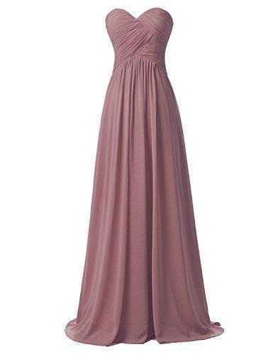 Clearbridal Damen Chiffon Herzform Lange Abendkleid Maxikleid Brautjungfer Kleid CSD182 Mauve...