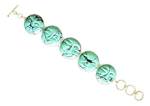 Argento sterling 925 TURCHESE braccialetto delle donne handmade tibetano BRACCIALETTO
