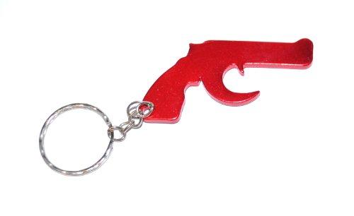 Revolver Rot Schlüsselanhänger / Flaschenöffner (Red Keyring) (Revolver Flaschenöffner)
