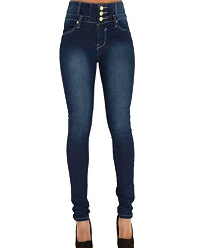 Mujer Pantalones Vaquero Skinny Push Up Pantalones