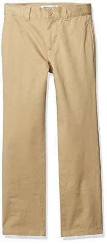 Amazon Essentials Straight Leg Flat Front Uniform Chino pants, Khaki, 10(S) - Khaki-uniform Hose