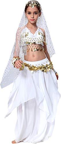 Bauchtanz Kostüm Kinder Mädchen Faschingskostüm Indische Kleider Rock - Indischen Kind Kostüm