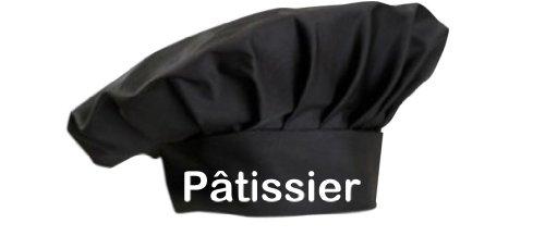 Shirtstown toque de cuisinier pâtissier küchenkonditor sevice cuisson großküche koch apprenti étoiles en 8 couleurs-idéal pour gastro, Coton, noir, taille unique