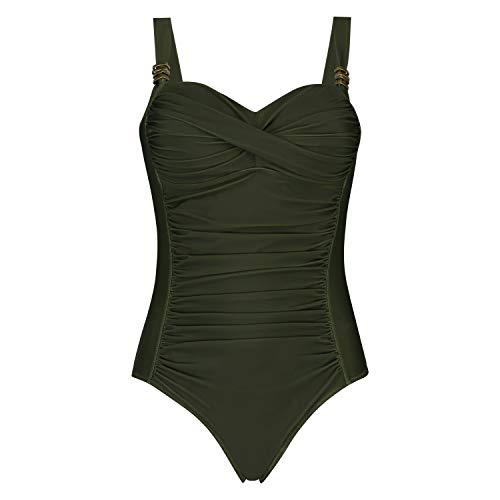 HUNKEMÖLLER Damen Badeanzug Sunset Dream grün 40