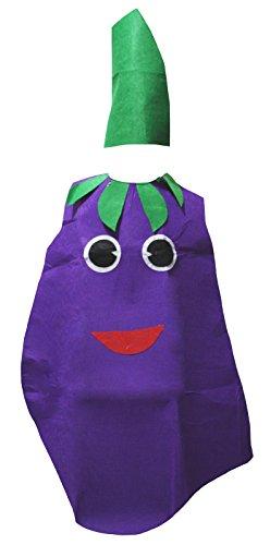 Kostüm Auberginen - Petitebelle Aubergine Unisex Kostüm-Set für Partei Kleidung für Erwachsene Einheitsgröße Lila