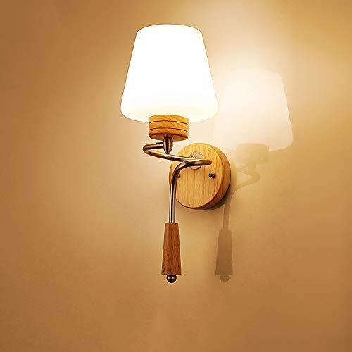 DFEIL Natürliche Massivholz Veranda Wandleuchte Moderne Kreative Eiche Gang Nachttischlampe Wandlaterne Komfortable Warme Wohnzimmer Arbeitszimmer Schlafzimmer Treppen Loft Wandleuchte -