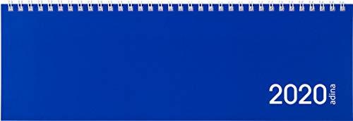 Tischquerkalender 1 Woche auf 1 Seite blauer Kartondeckel Schreibtischkalender Tischkalender Marke ADINA 30x10cm