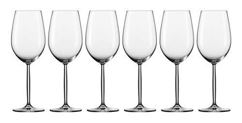 Schott Zwiesel BORDEAUX DIVA 22 Wijnglas, Kristalglas met Tritan beschermlaag, Transparente 9 cm, 6
