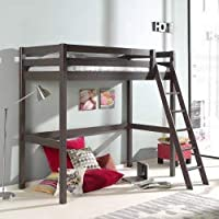 Alfred & Compagnie Mezzanine H190 Bed 90 x 200 cm Pine Reclining Ladder Armance & Faustin Taupe