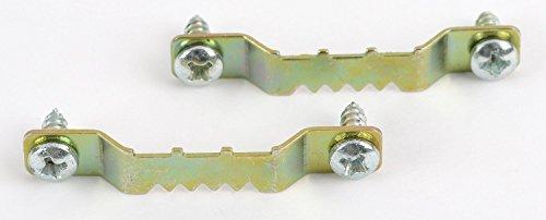 Grapelet Bildaufhänger - 20 Stück mit Schrauben - Aufhänger für Holzrahmen, Zackenaufhänger...
