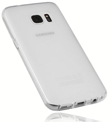 mumbi Schutzhülle für Samsung Galaxy S7 Hülle transparent weiss