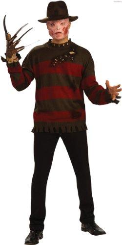 Nightmare on Elm Street Freddy Krueger Deluxe Shirt Größe (Elm Kostüme Freddy Krueger Street)