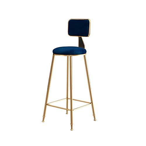Comif-tabouret de bar Eisen Barhocker Hochstuhl, Flanell Stoff und Rückenlehne, für Cafe Restaurant Bistro (Multi-Color Optional, Sitzhöhe: 75cm)